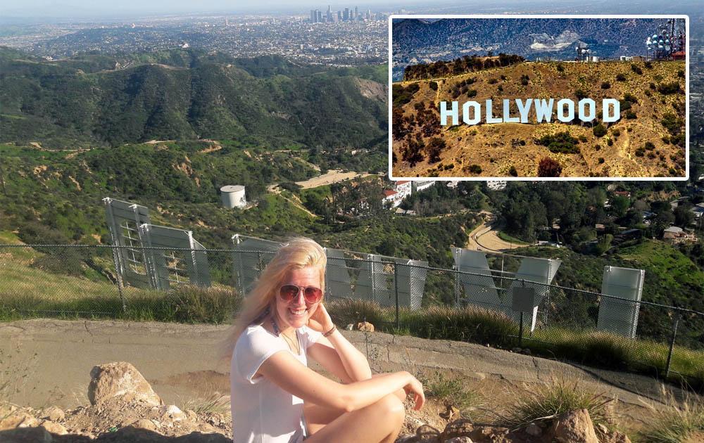 Deutsche Schauspielerin Niki J. Borger in Hollywood