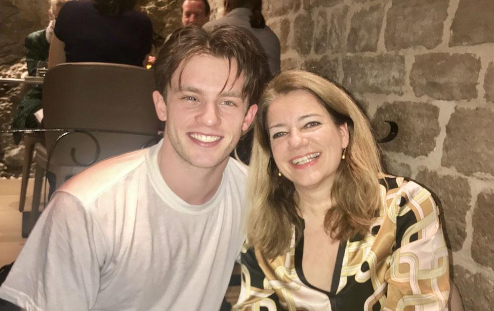 Jannis Niewöhner mit Martina Mack