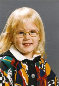 Niki J. Borger als Kind